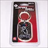 MLB Chicago White Sox Team Dog Tag Keychain, Black