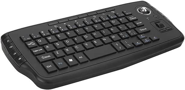 Gamogo E30 Teclado inalámbrico de 2.4 G con Trackball Mouse Control Remoto de Rueda para Android TV Box Smart TV PC Notebook Black: Amazon.es: Electrónica