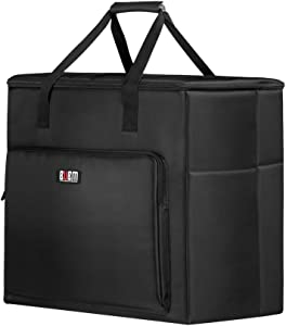 Hallart BUBM Desktop Computer Carrying Case, Padded Nylon Carry Tote Bag for Transporting Computer Tower PC Chassis,Monitor(Up to 27 inch),Keyboard,Cable and Mouse