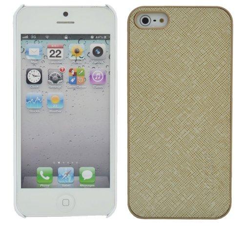Suncase 43166912 - Carcasa para iPhone 5 (piel), color marrón Beige