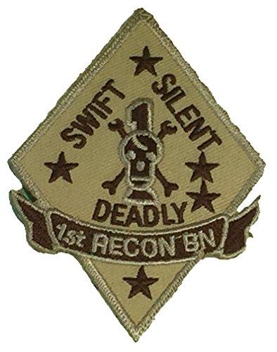 USMC 1ST RECON BATTALION UNIT Patch - Desert/Tan - Veteran Owned Business.