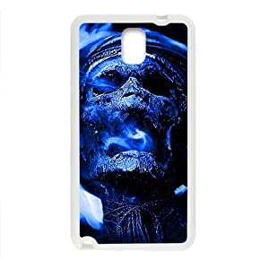 Blue Skull Custom Protective Hard Phone Cae For Samsung Galaxy Note3