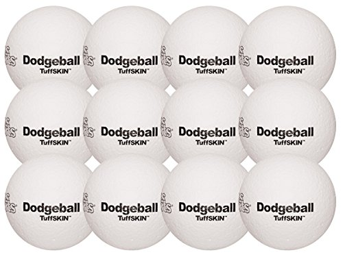 TuffSKIN Foam Dodgeball Set of 12 White by Palos Sports