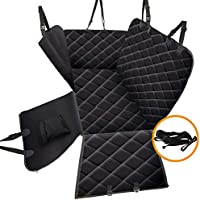 Arkmiido Dog Seat Cover with Mesh Viewing Window for Back Seat