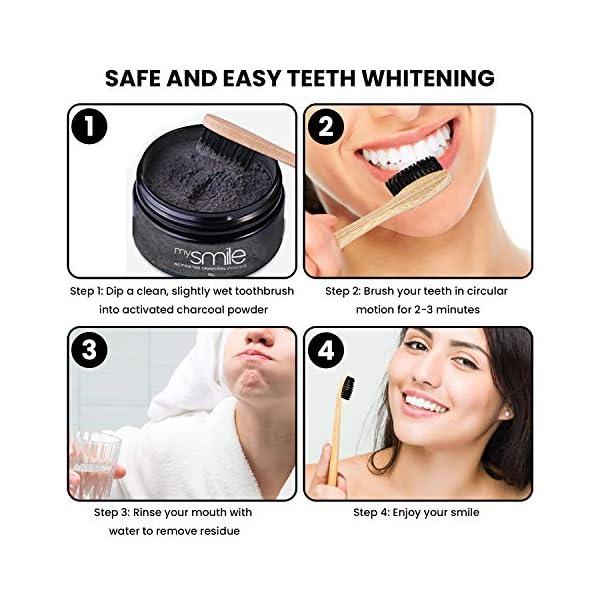 Kit Blanchiment Dentaire au Charbon Actif – Poudre de Charbon Blanchissante Noix de Coco, 2 Brosses à Dents Bambou…