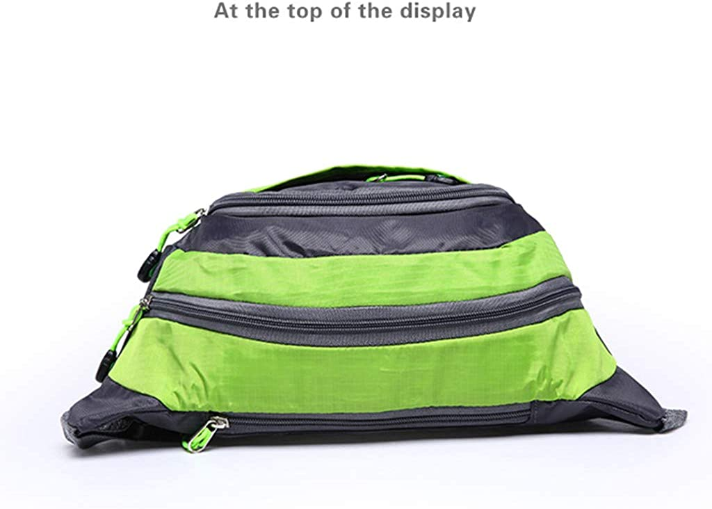 Cloudqi Retro motion Outdoor Sports Crossbody Student Shoulder Bag Chest Bag Travel Backpack Green
