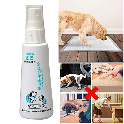 Efaster Puppy Training Spray,Dog Potty Trainer,Pet Corrector Spray,Training Spray Potty Aid Dog Puppy Liquid Cat Positioning Induction Fluid,Guide Pet to Pee at Fixed Spot,Scientific Formula (2 Pcs)