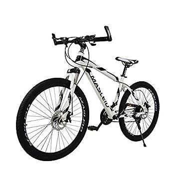 MASLEID 26 pulgadas bicicleta de montaña bicicleta de 21 velocidades , white