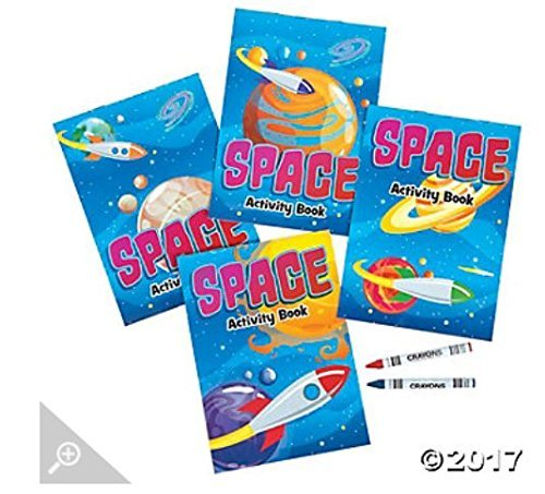 12 Space Activity Books crayons product image
