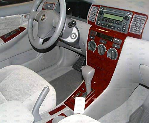 Toyota COROLLA INTERIOR BURL WOOD DASH TRIM KIT SET 2003 2004 2005 2006 2007 2008