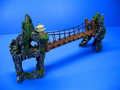 """Mountain Drawbridge Aquarium Ornament 14.7"""" - Bridge Rock..."""