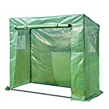 Outsunny 6.5'x2.5'x5.5' Walk-in Garden Greenhouse with Durable Frame Outdoor Garden Tomato Plant House