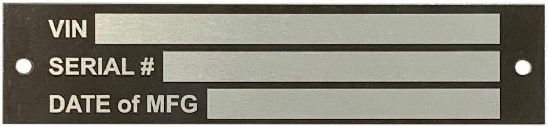4 x 1 NapTags Aluma-Tough VIN Panel Tag