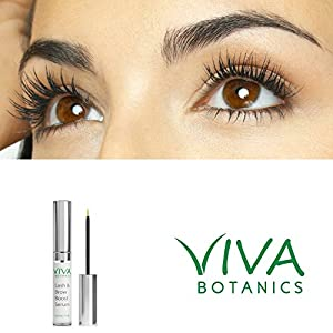 Longer and Thicker Looking Eyelashes & Eyebrows! Viva Botanics Lash & Brow Booster Serum Boosts Enhances Conditions Gives The Lush Appearance Of Natural Eyelash Growth & Regrowth Best Selling (1.0 ml)