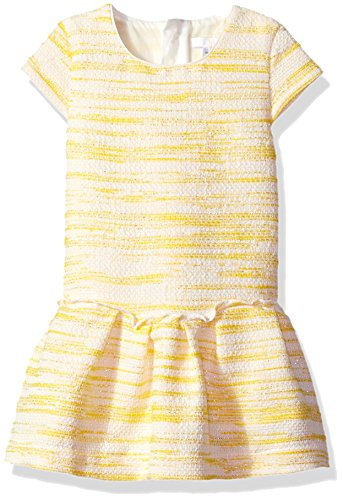 Chloe Baby Girls' Tweed Style Sleeveless Dress Infant, Banane, 18M by Chloe