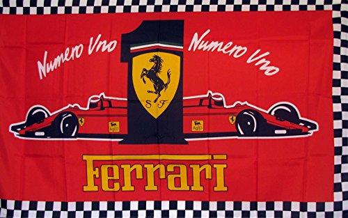Ferrari Numero Uno Car Flag 3' x 5' Indoor Outdoor Banner