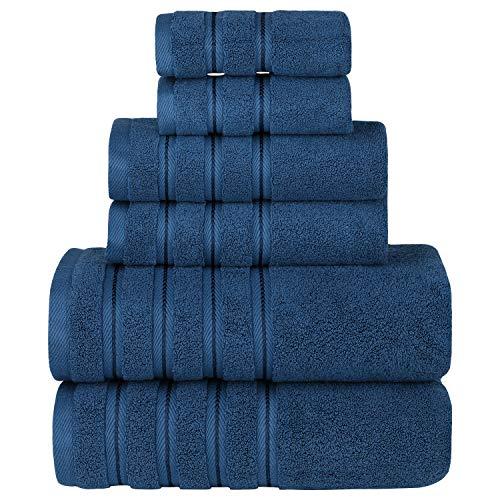 (Sofi Towel 6-Piece Luxury Premium Hotel & Spa Towel Set, Ultra Soft and Absorbent, Turkish Cotton, 2 Bath Towels, 2 Hand Towels, 2 Wash Cloths, Gym, Pool & Bathroom Towel Set (Venetian Blue))