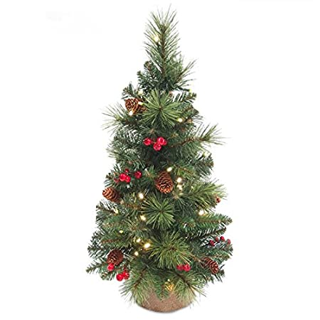 everyday collection artificial pre lit mini christmas tree 2ft - Mini Pre Lit Christmas Tree