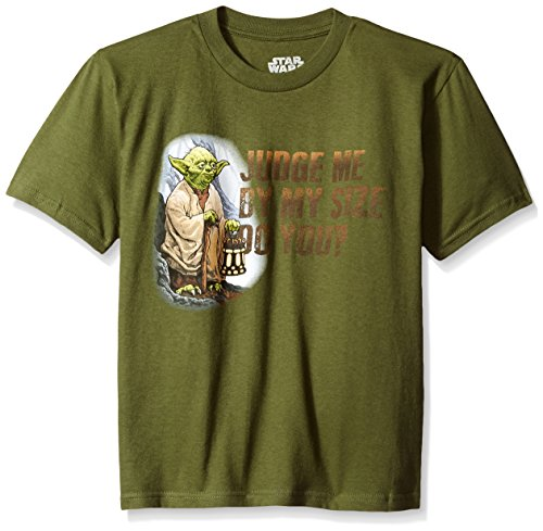 Star Wars Boys' T-Shirt, Olive, Large by Star Wars (Image #1)