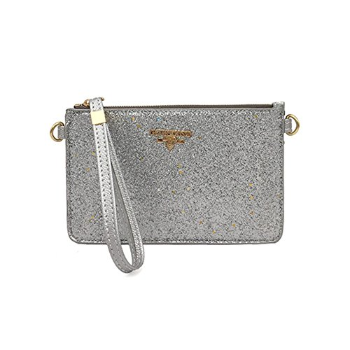 Clutch Clutch Envelope Chain Majome Sequin Handbag Girls Silver Messenger Bag Casual Bag 1wBU7xqf