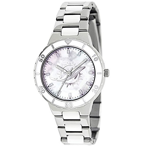 - Gifts Licensed Gifts Ladies NFL Miami Dolphins Mother of Pearl Watch