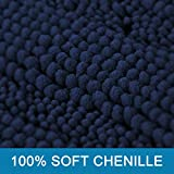 Navy Blue Bathroom Rugs Slip-Resistant Extra