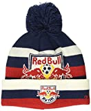 new york hat red - MLS New York Red Bulls R S8FDS Youth Boys Cuffed Knit Hat With Pom, One Size (8), New Navy