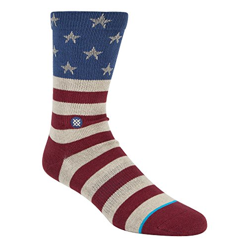 Stance Men's the Fourth Crew Sock (Red, X-Large) from Stance