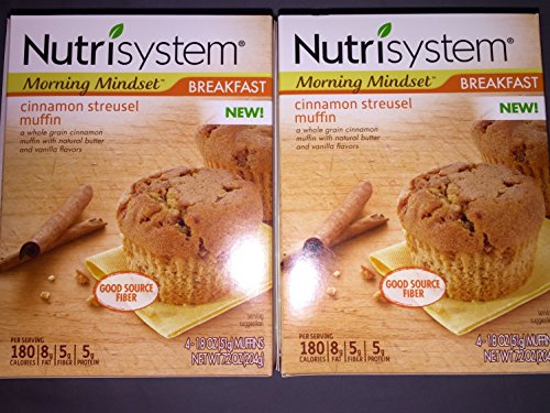 Nutrisystem Morning Mindset Cinnamon Streusel Muffins, 1.8 oz 8 Counted