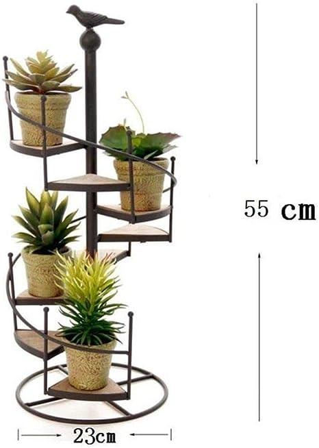 SHGK Estilo NóRdico Estante Flores Hierro EstanteríA Macetas Espiral Escalera Pantalla Retro Home Garden Decorativo MultifuncióN EstanteríA: Amazon.es: Deportes y aire libre
