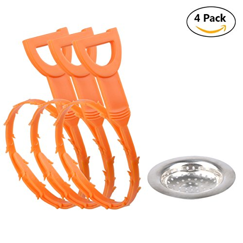Mikimiqi Sink Strainer Filter Sewer Strainer Strainer and 3-Pack Hair Catcher Drain Clog Remover Drain Cleaner Unclog Hair Good Helper
