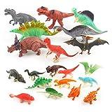 Ytzada 20 Pack Dinosaur Figure Toys, Jurassic Park Educational Realistic Dinosaur Playset Gift for Kids Boys Toddlers Including T-Rex, Stegosaurus, Spinosaurus, Monoclonius and More