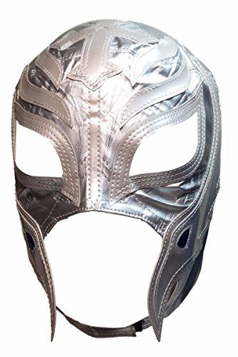 [WWE REY MYSTERIO Kid Size Silver Replica MASK] (Wwe Girl Costumes)