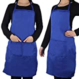 OMG 6 Colors Unisex Apron Chefs Kitchen Cooking Baking Home Cleaning Accessories with 2 Pockets