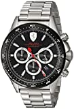 Ferrari Men's 'PILOTA' Quartz Stainless Steel Casual Watch, Color:Silver-Toned (Model: 0830393)