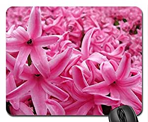 Pink hyazinths Mouse Pad, Mousepad (Flowers Mouse Pad, Watercolor style)