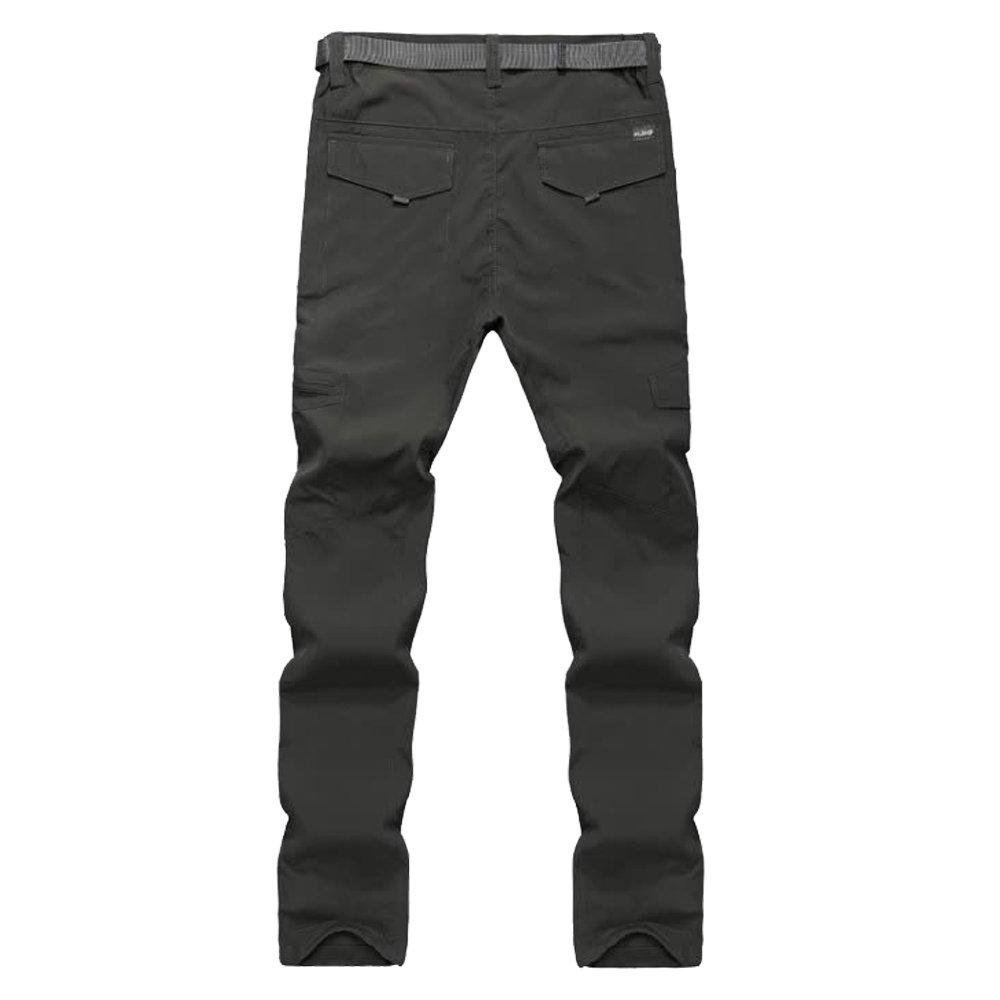 CLIMB&PEAR Men's Classic Fashion Profession Quick-Drying Pants,Climbing Hiking Run Casual Plus Size Pants (L, Dark Army)