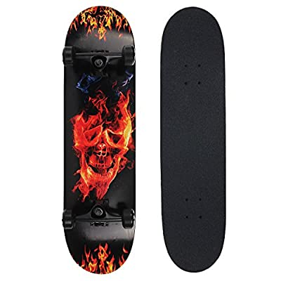 NPET Pro Skateboard Complete 31 inch 7 Layer Canadian Maple Double Kick Concave Deck Skating Skateboard from Thoth E-commerce Co.,Ltd