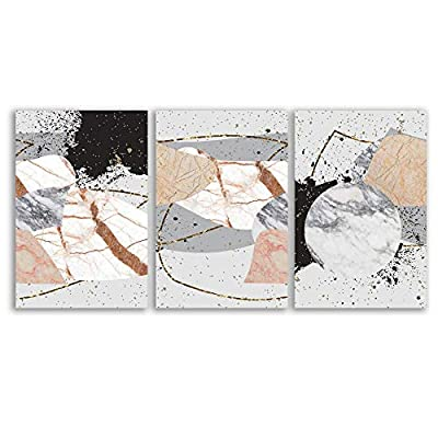 3 Piece Canvas Wall Art - Abstract Art - Canvas Prints Home Artwork Decoration for Living Room,Bedroom - 16