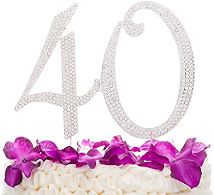 40 Cake Topper For 40th Birthday Or Anniversary
