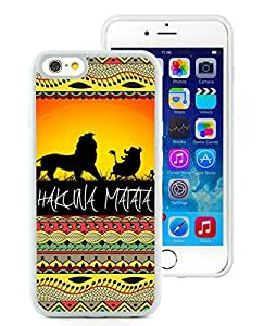 Popular iPhone 6/iPhone 6S 4.7 Inch TPU Case ,Hakuna Matata on Sunset Lion King White iPhone 6/iPhone 6S 4.7 Inch TPU Screen Case Hot Sale And Fashionable Designed Cover Case