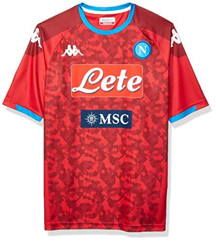 Ssc Napoli Italian Serie A Men's Home Replica Goalkeeper Match Shirt, Red, L