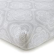 Levtex Home Baby Willow Medallion Fitted Crib Sheet, White