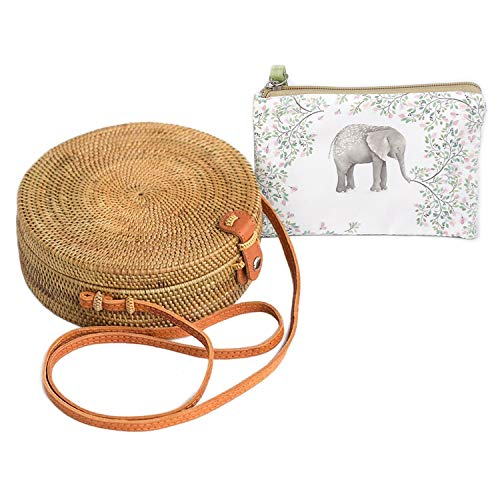 Handwoven Rattan Bag by BEEGREENY - No Smell, Prime Handmade Bag + Cute Purse