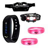 Everlast Running Athletic Training 5 Pc Visibility Bundle with TR3 Wireless Activity Heart Rate Monitor