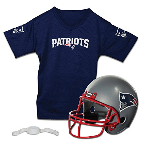 New England Patriots Halloween Costume (Franklin Sports NFL New England Patriots Replica Youth Helmet and Jersey)