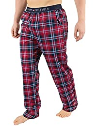 Mens Jersey Print Pyjama Bottoms, Red