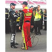 fan products of 2X AUTOGRAPHED Jimmie Johnson & Clint Bowyer 2015 Kobalt Tools / 5 Hour Energy Racing (Qualifying) 8X10 Signed Picture NASCAR Glossy Photo with COA
