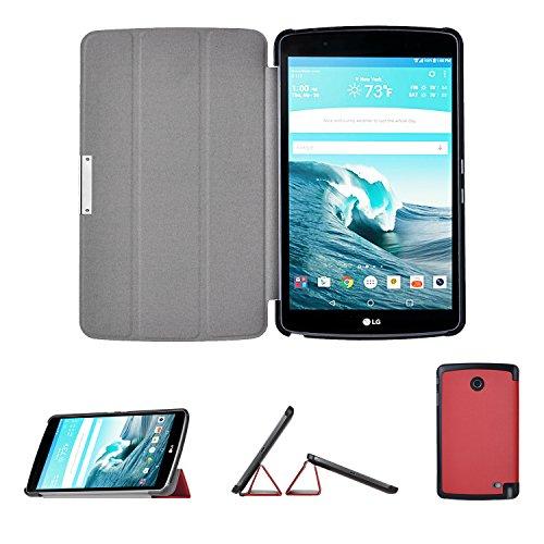 LG G PAD X 8.0 / G Pad III 8.0 Case, IVSO LG G PAD X 8.0 Case - Ultra Lightweight Slim Smart Cover Case-for LG G Pad X 8.0 (T-Mobile V521WG) / G Pad III 8.0 V525 8-Inch Tablet 2016 Released(Red) T-mobile Color Pda