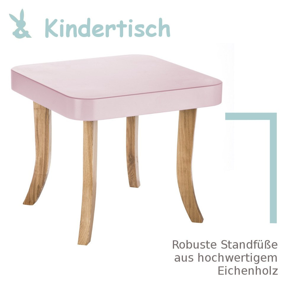 Somebunny 4055168104684 Robuster Kindertisch im exklusiven Barock Design, rosa MOLEO Sp.z o.o.